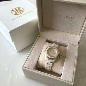 Klaus Kobec Diamond Pearl Women's Watch